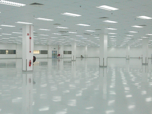 stonlux epoxy flooring in production area facility